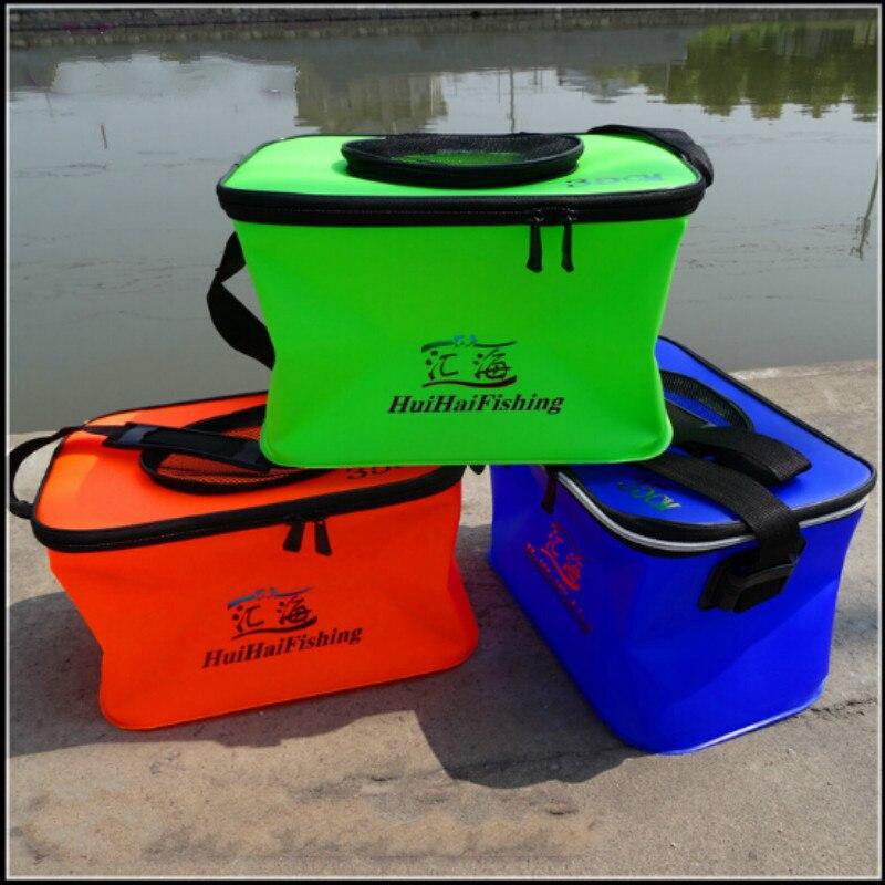 물고기 양동이 EVA 낚시 통 접는 탱크 물 상자 hengelsport Viskist 야외 휴대용 낚시 액세서리
