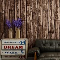 Retro Nostalgia Wood Grain Wood Board Wallpaper Fashion Personality 3D Bar Coffee Shop Restaurant Printed Wall