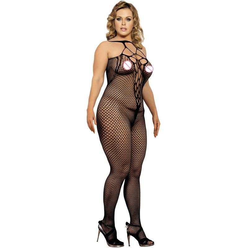 Plus Size Black Leather Lace Mini Dress
