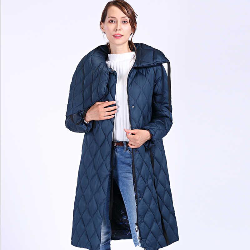 ¡Novedad de 2020! Parkas gruesas de gran calidad de talla grande, Chaqueta larga de invierno para mujer, abrigo de invierno con capucha Bio fluff cálido y resistente al viento