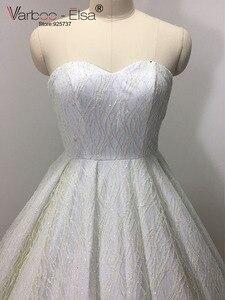 Image 4 - VARBOO_ELSA 2018 Sevgiliye Kolsuz Gece Elbisesi Beyaz Payetli Parlak Balo Elbise Lüks Balo Custom vestido de festa