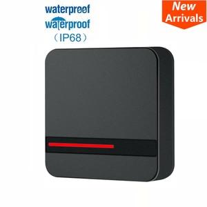 Image 1 - קורא RFID ארוך טווח 125 KHZ/13.56 MHZ בקרת גישה קורא קרבה כרטיס Wiegand 26/34 IP68 עמיד למים קטן IC כרטיס קורא