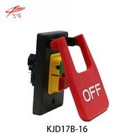220V 240V 16A 5E4 Table Saws Electromagnetic Pushbutton Switch Paddle Switch KJD17B 16