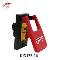 220V 240V 16A 5E4 Table Saws Electromagnetic Pushbutton Switch Paddle Switch KJD17B 16