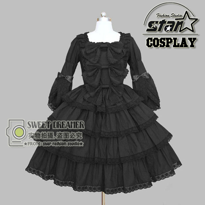 Princess Cosplay Costume for Girl Lolita Dress Vintage Medieval Gothic Dress Children Kids Girl Halloween Party Dress 4pcs gothic halloween artificial devil vampire teeth cosplay prop for fancy ball party show