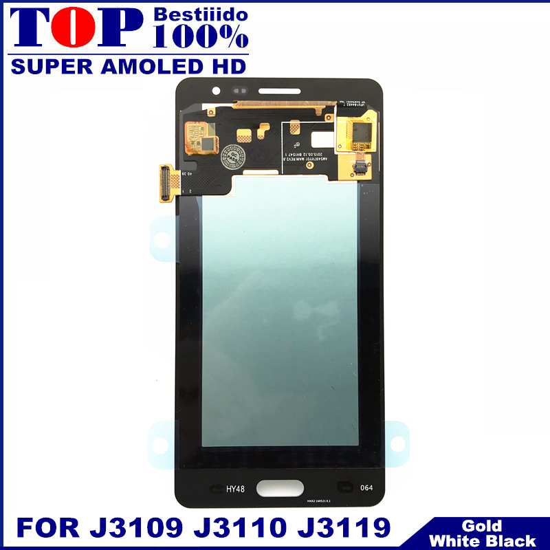 US $38 2 15% OFF|Replacement LCDs For Samsung Galaxy J3 pro J3109 J3110 J3P  J3119 AMOLED LCD Display Touch Screen Digitizer Brightness Adjustnebt-in