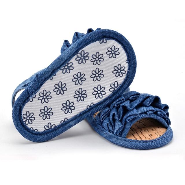 0-18 Months Baby Kids Girl Soft Sole Crib Anti-slip Solid Toddler Newborn Shoes 2