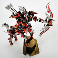 Microworld 3D Puzzle Warrior Half Horse Knight Metal Model DIY Laser Cut Jigsaw Puzzle Toys Assemble Model Kits Educational Toys