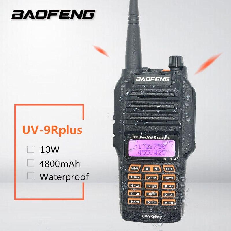 2019 Baofeng UV-9R Plus 10 W haute puissance étanche talkie-walkie VHF UHF double bande jambon deux voies radio Station émetteur-récepteur 4800 mah
