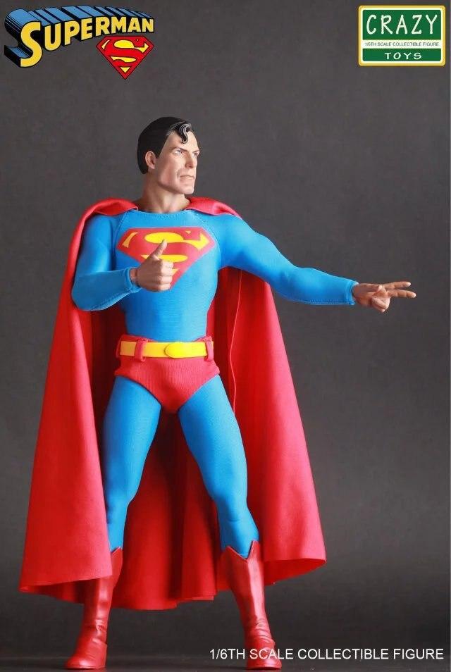 Szalone zabawki Super Hero rysunek liga sprawiedliwości Superman figurka zabawka lalka 30cm w Figurki i postaci od Zabawki i hobby na  Grupa 1