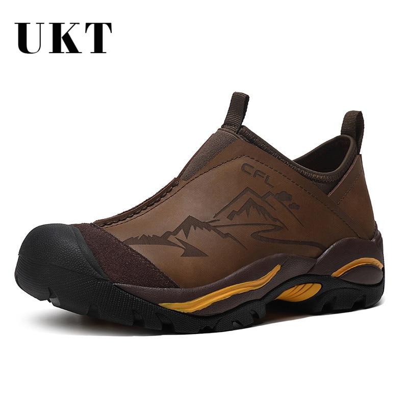 Waterproof Genuine Leather Men s Shoes Autumn Winter Fashion Outdoor Men Shoes Slip on Brand Luxury