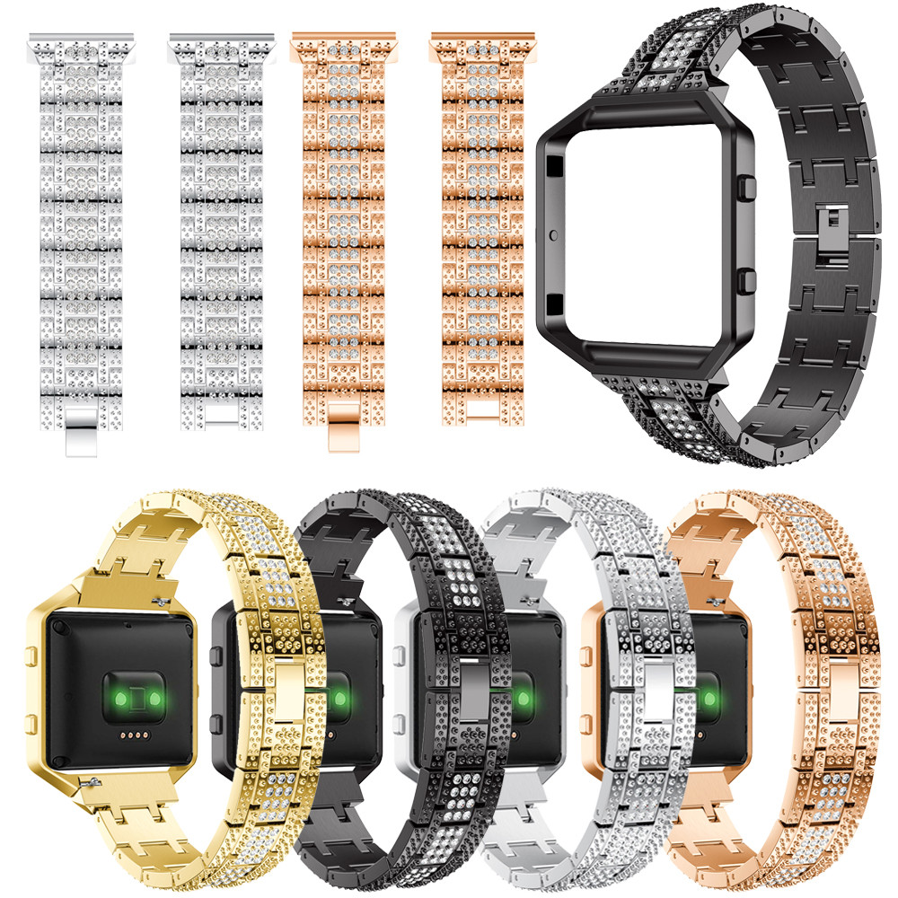 HIPERDEAL Luxury Alloy Women Watch Band Strap Replacement Girls Wrist Strap Loop Case Kit For Fitbit Blaze 6J28 Drop Shipping