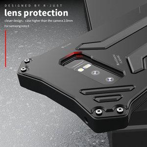 Image 3 - Чехол для Samsung Galaxy Note 10 Plus, металлический алюминиевый силиконовый сверхпрочный защитный чехол для Samsung Note 9, роскошный армированный чехол
