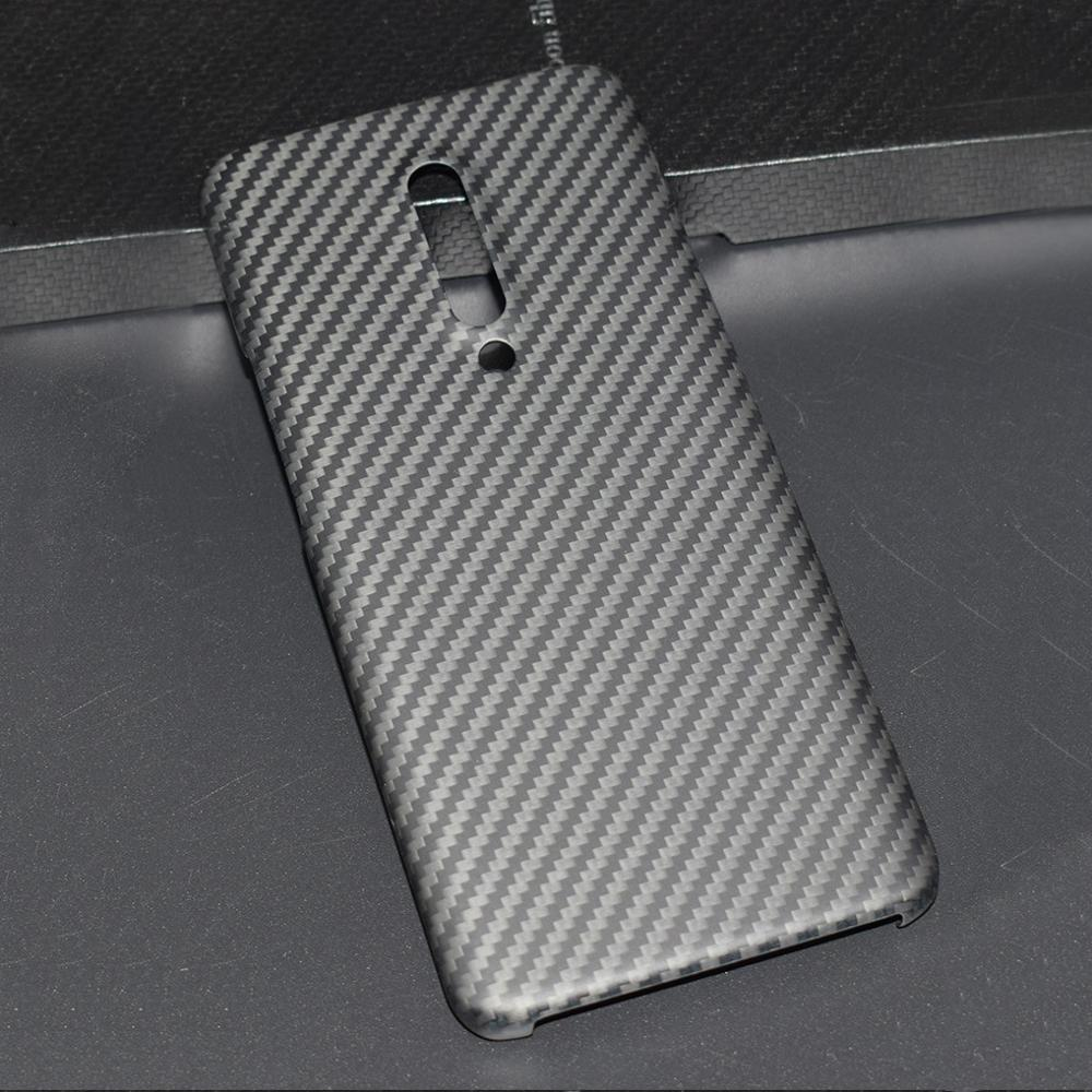 ENMOV Real Carbon Fiber Case for OnePlus 7 Pro Kevlar Matte  Protection for One Plus 7 Pro Case Cover Super Light ThinFitted Cases