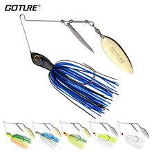 Goture Elfin Spinnerbait 14g/10g Spinner Fischerei Locken Löffel Metall Jig Jigging Locken Spinner Köder Buzzbait Swimbait für Bass(China)