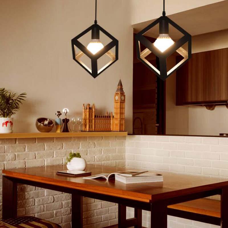 Vintage luces colgantes lámparas moderno negro cocina bar comedor ...