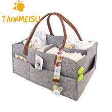1Pcs Foldable Felt Storage Bag Baby Clothes Kids Toys Organizer Mommy Bag Portable Diaper Caddy Organizing Pouch Fireplace Bags(China)