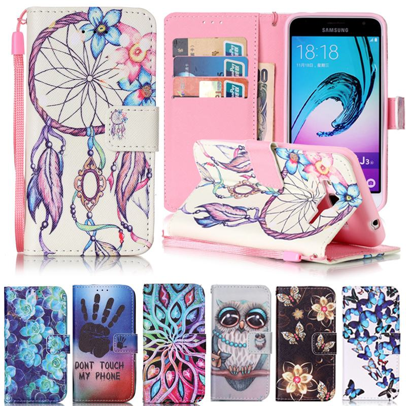 for coque samsung galaxy j3 case leather wallet flip cover. Black Bedroom Furniture Sets. Home Design Ideas