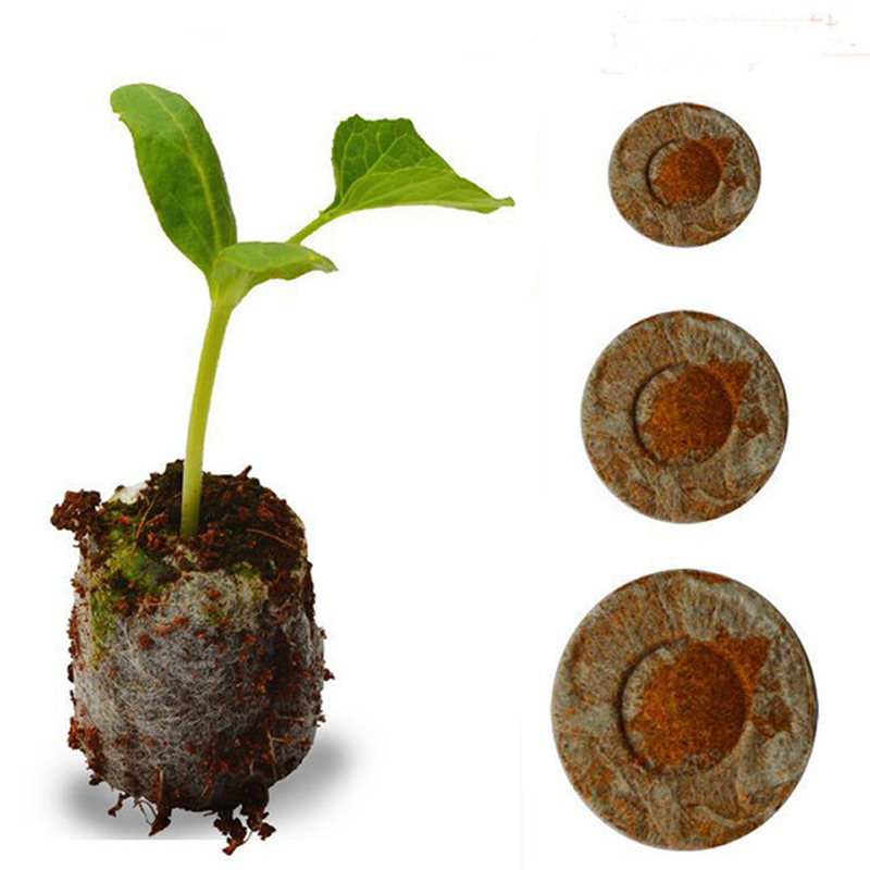 100pcs Count 30mm with Jiffy Peat Pellets Seed Starting pallet,garden tool Seeds Starter,seedling soil block