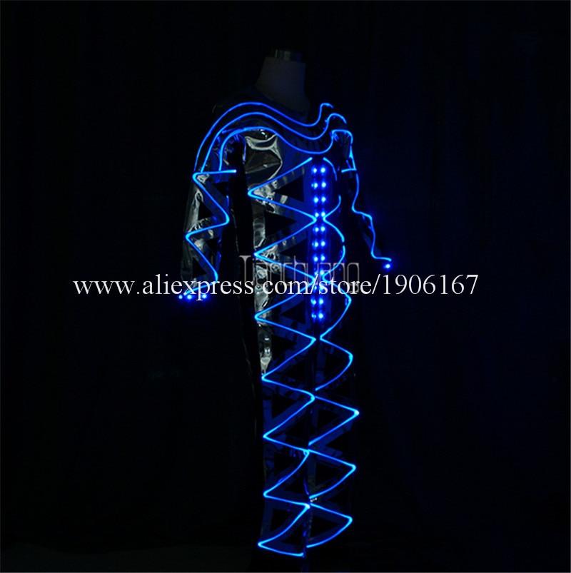 Full color LED light up Fiber Optic Jumpsuits01