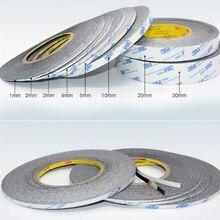 1mm 10mm * 50 Mét Siêu Mỏng & Mỏng Màu Đen Đôi Băng Keo 2 Mặt Cho Màn Hình Điện Thoại Di Động Màn Hình Hiển Thị LCD Bộ Số Hóa sửa Chữa