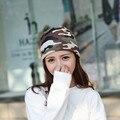 Новая Мода Мужская Камуфляж Шапочки Hat Для Женщин 3 Способов носить Шарф Hat Открытый Теплый Весна Осень Шляпа Капот Девочек Gorro
