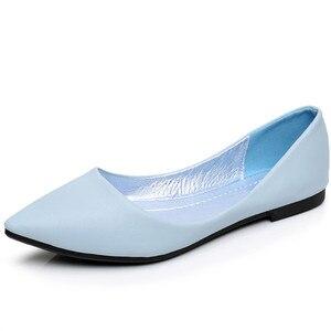 Image 2 - BEYARNEWomens Sandali Scarpe Donna Cuoio Genuino Scarpe Basse Scarpe di Moda cucito A mano Mocassini In Pelle Femminile Foro Foro Scarpe Da Donna Piatta
