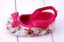 Todder предварительно ходунки Цветы затенение лук Новорожденных детская Обувь мягкой подошвой Бесплатные Dropshipping
