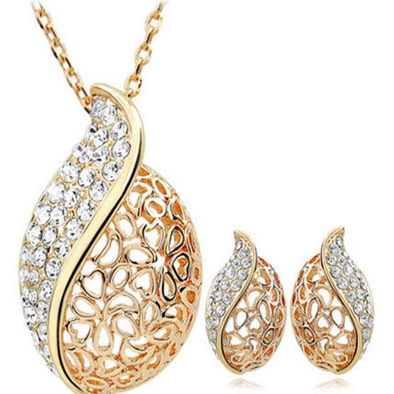 Earrings Necklace Jewelry Sets Classic Wedding Dress