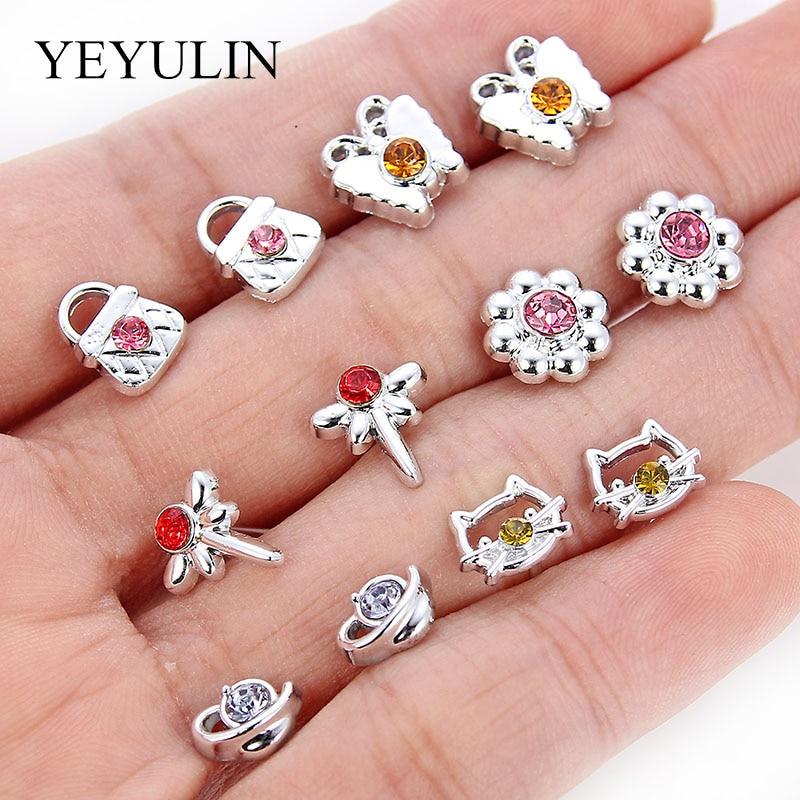 36Pairs/18pairs Earrings Mixed Styles Rhinestone Sun Flower Geometric Animal Plastic Stud Earrings Set For Women Girls Jewelry