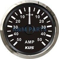 KUS Boat Ammeter Marine AMP Meter Gauge W/ Current Shunt Pick up Unit 12/24V 50A