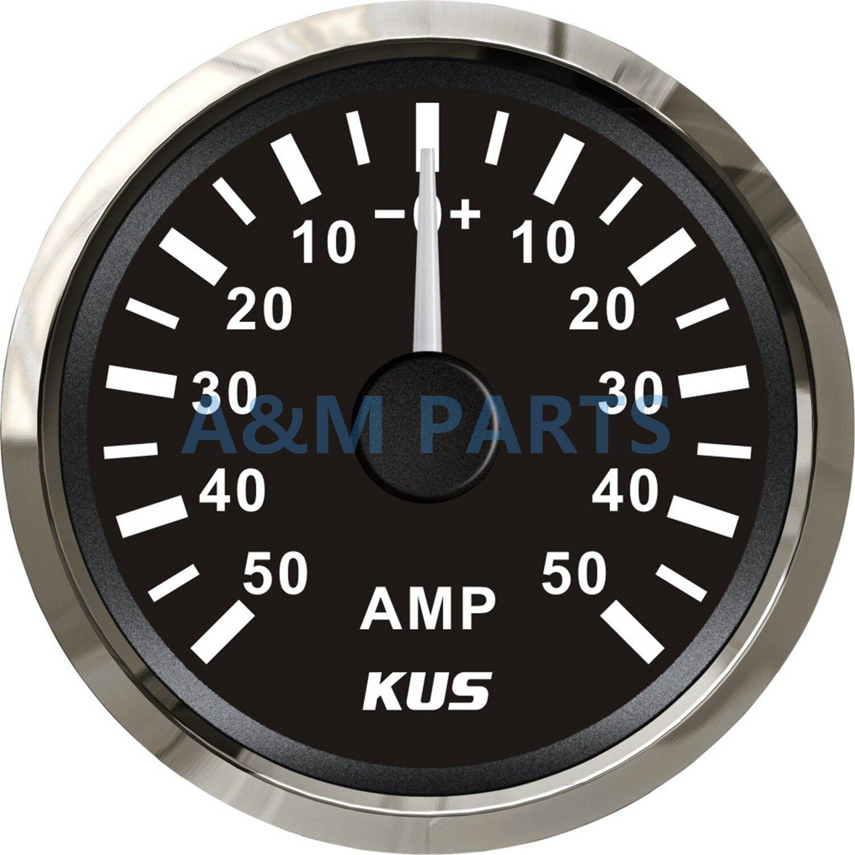 Marinhos Barco KUS Amperímetro AMP Medidor medidor W/Shunt Atual Pick-up Da Unidade 12/24 V 50A