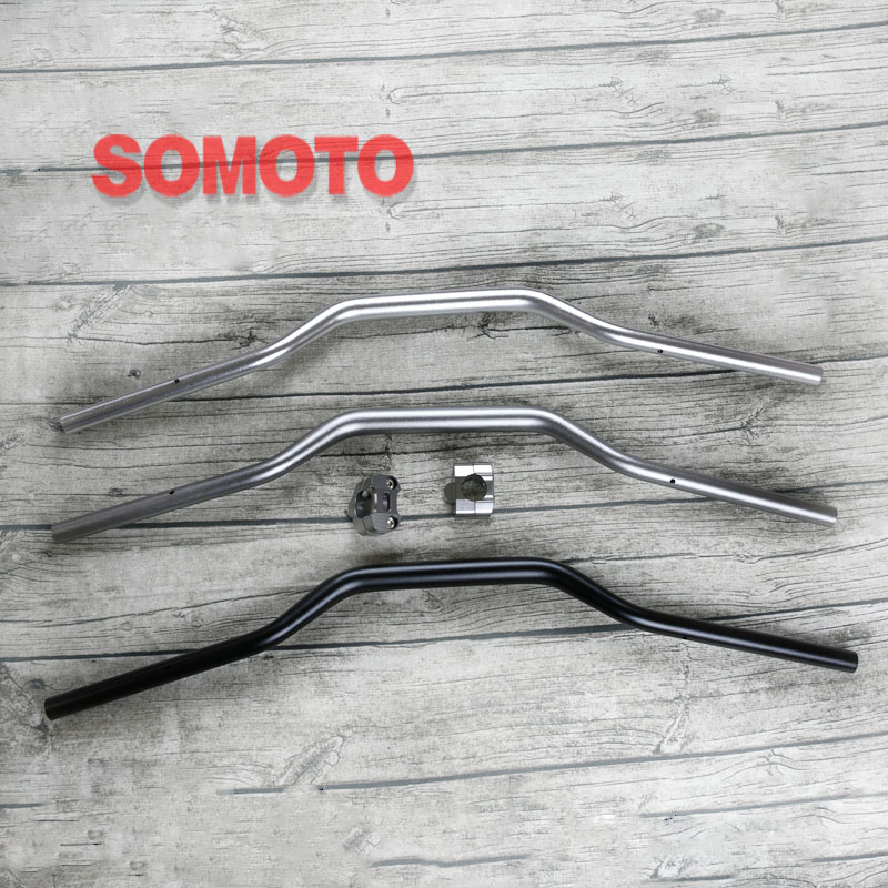 810mm 28MM Fat Vintage Motorcycle Variable Diameter handle bar with Clamp 6061 Aluminum alloy bar tubes