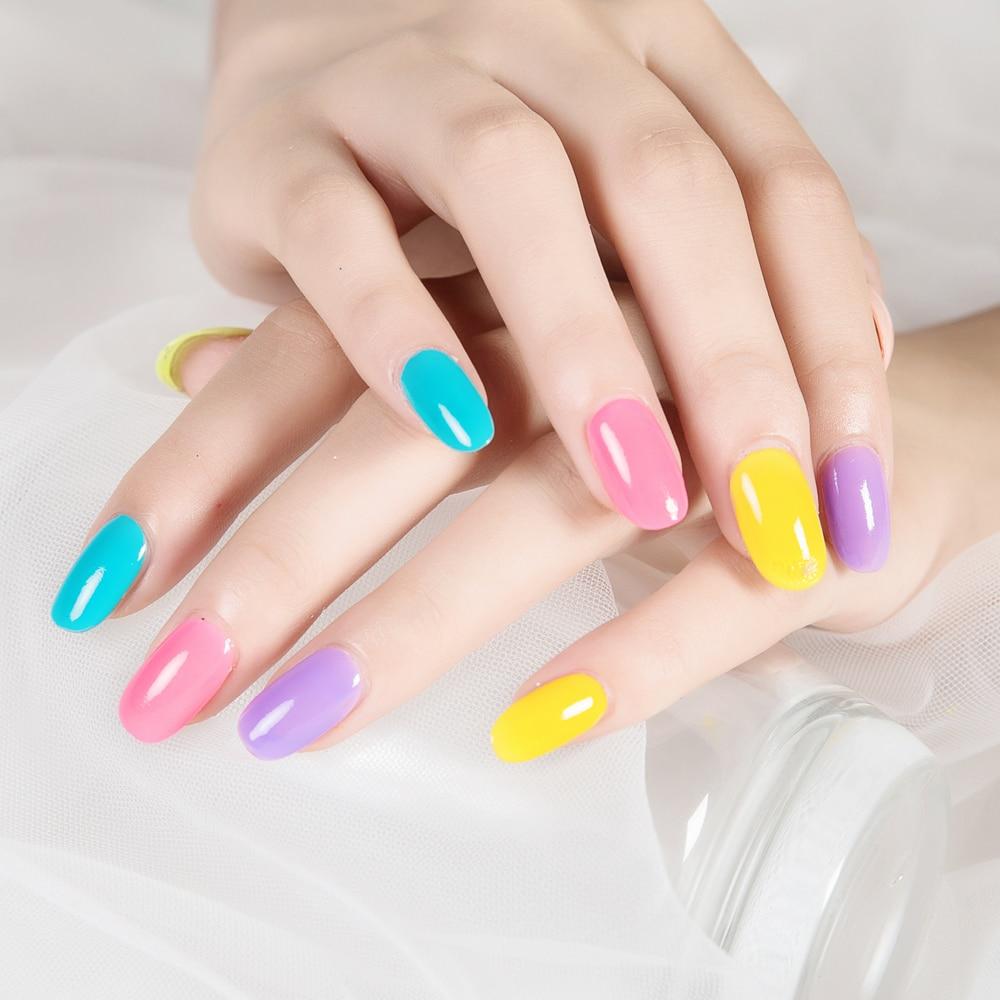ZD 6 unids coloful caramelo cáscara Esmaltes de uñas smalto unghie diferentes colores Manicura polaco Stempel nagellak cc06