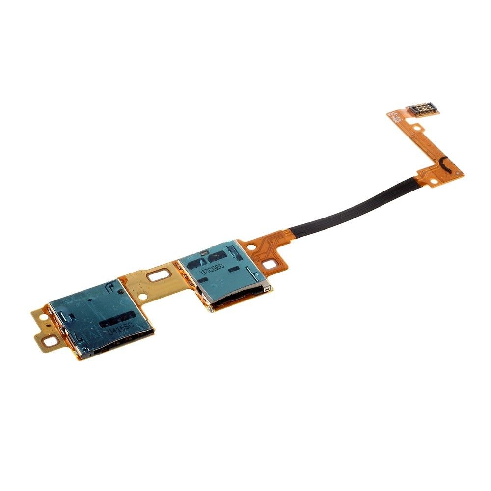 For Samsung Galaxy Tab Pro 10.1 SM-T525 SIM And Micro SD Memory Card Reader Contact Flex Cable