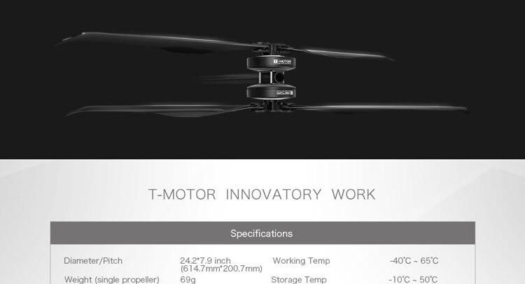 T-motor Tiger Motor Folding Carbon Fiber Propeller FA24.2×7.9-2PCS/PAIR For RC Drones