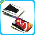 Black Wallet Slim Sided Money Clip Card Credit Name Holder Clamp Double Sided Credit Card Holder Bottle Opener