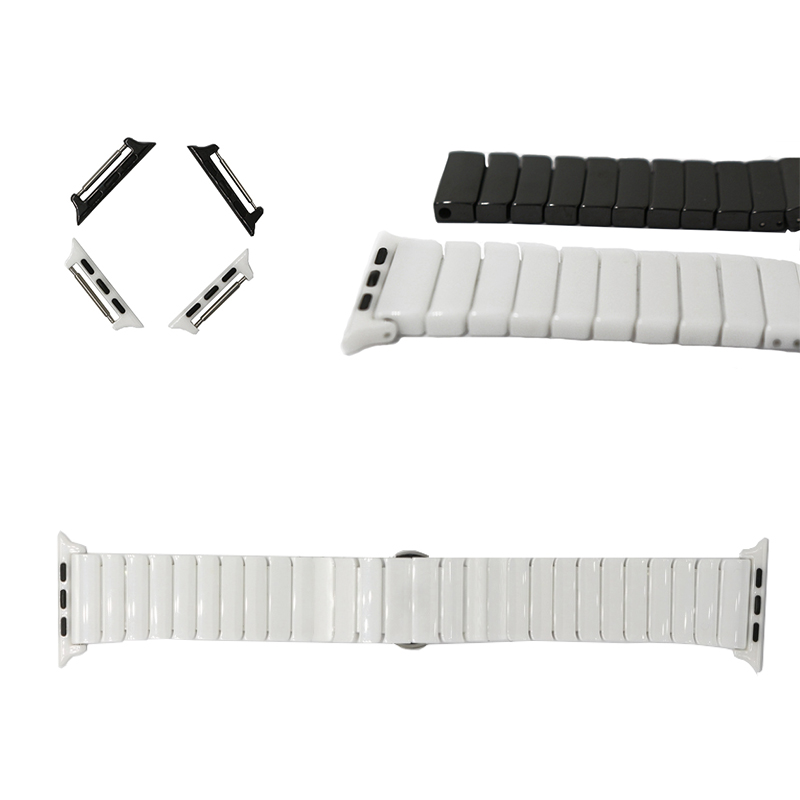 URVOI band for apple watch ceramic edition iwatch porcelain strap wrist high quality full ceramic with adapters band white black