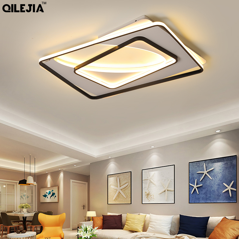 White With Black Finished Modern Led Chandelier Bedroom Living Study Room Lamps Fixtures Lighting Indoor Decoration LuminairesWhite With Black Finished Modern Led Chandelier Bedroom Living Study Room Lamps Fixtures Lighting Indoor Decoration Luminaires