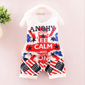 0-24M baby boy clothes Camouflage set 2017new kids clothes sleeveless T-shirt Tops + Pants 2pcs Outfit Set summer baby clothes