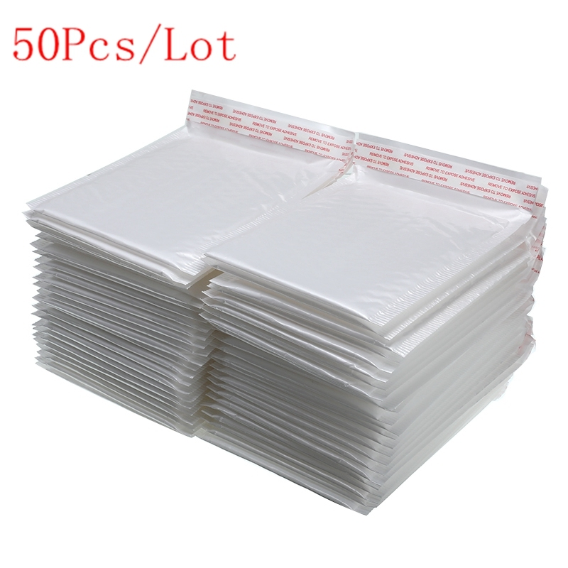 50Pcs/Lot Different Specifications White Bag Foam Envelope Foam Foil Office Packaging Envelope Moistureproof Vibration Bag Hot
