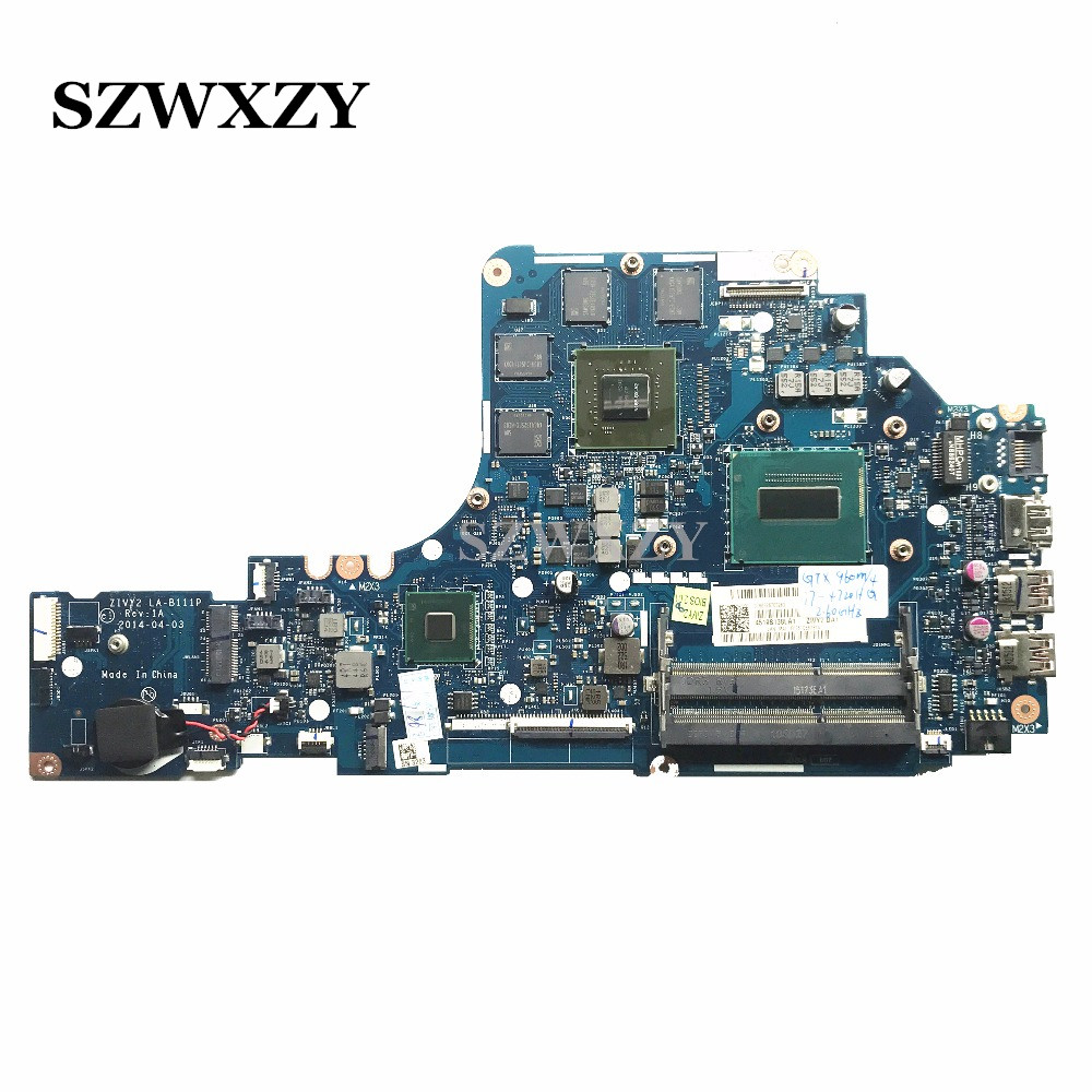 New For Lenovo Y50 70 Y50 70T Laptop Motherboard ZIVY2 LA B111P 5B20H29162 SR1Q8 I7 4720U