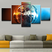 Wall Art Modular Framework Printed Poster Canvas Picture 5 Panel Cartoon Naruto Character For Home Decor Children Room Painting