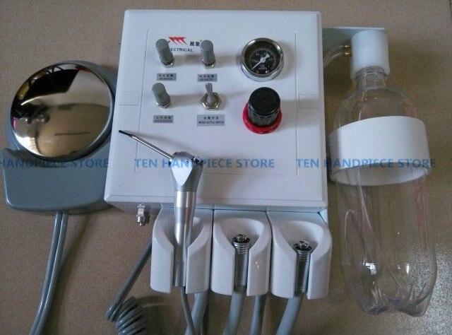 2018 di buona qualità di Laboratorio Dentale Turbina Portatile Unità con 2 pcs tubo manipolo e la siringa