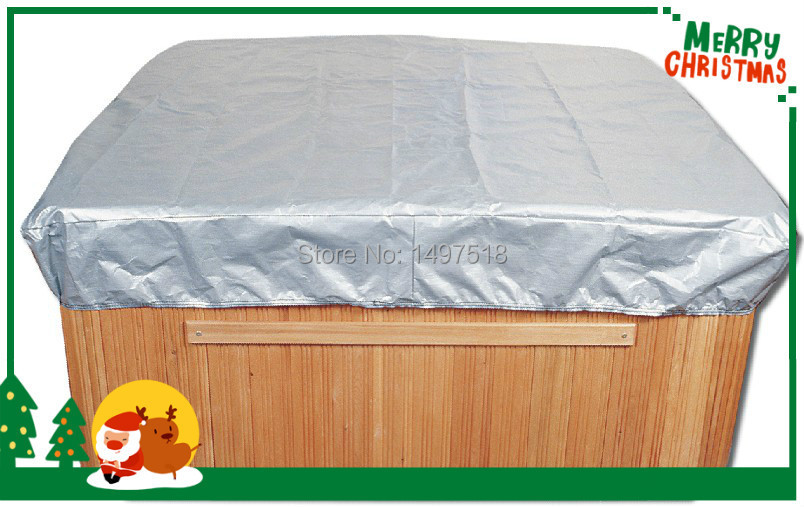 hot tub and spa cover Protector cap size 2.4 m x 2.4 m x 30.5 cm (8 ft. x 8 ft. x 12 in.) blue wave 18 ft x 40 ft 12yr mesh safety green