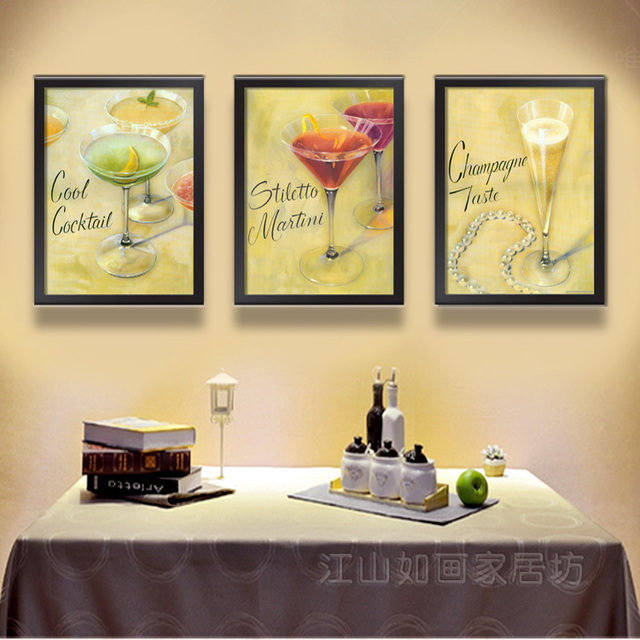 restaurant decorative painting framed painting the dining room