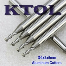 4x2x5 MM 2 Fluit Frees Cutter voor Aluminium CNC Center, Hardmetalen Aluminium Graveren Frezen CNC Router Bit Tool