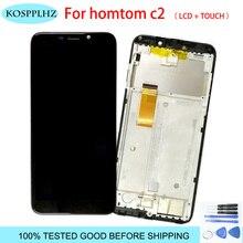Para HOMTOM C2 LCD pantalla montaje de pantalla táctil + marco para HOMTOM C2 lcd digitalizador Sensor Panel de vidrio + herramientas