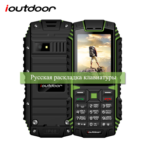 Прочный телефон ioutdoor T1, 2G, IP68, противоударный, 2,4 дюйма, 32 + 32 м, GSM, задняя камера 2 МП, FM-радио, 2100 мАч