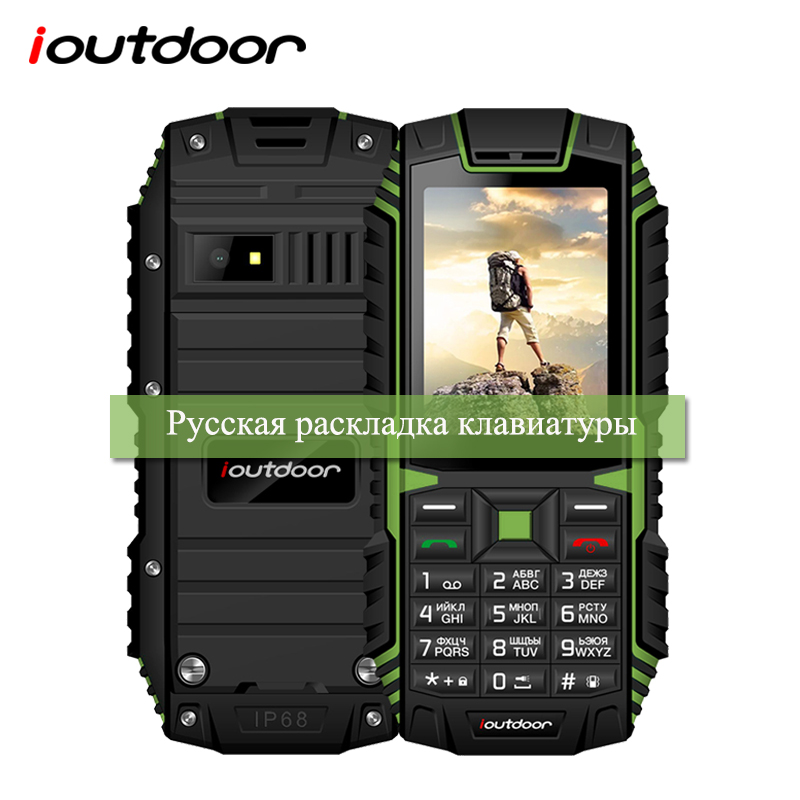 "Ioutdoor T1 2G Funktion Robuste Telefon IP68 Stoßfest Handy 2,4 ""128 M + 32M GSM 2MP zurück Kamera FM Telefon Celular 2G 2100mAh"